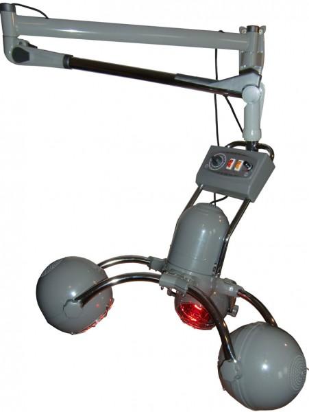 1951 IR-Climazon rotierend 3 Lampen analog Wandarm silbergrau