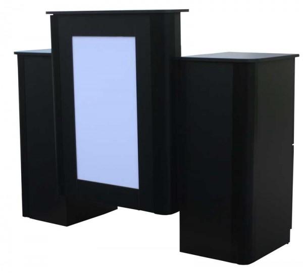 1391 Rezeption schwarz mit LED-Front