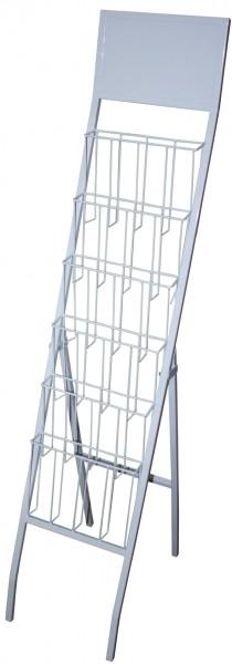 1803 Prospekthalter weiß/grau