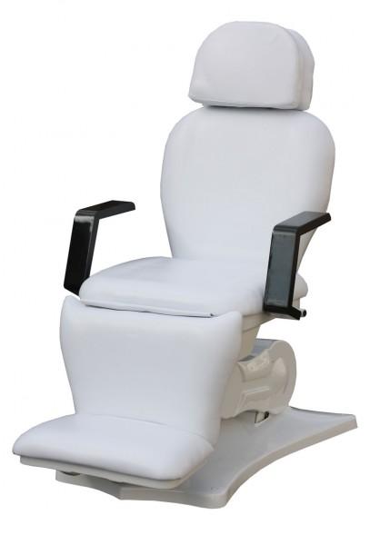2064 elektische Kosmetik-Fußpflegeliege 4 teilig, Sockel weiß/ Bezug weiß