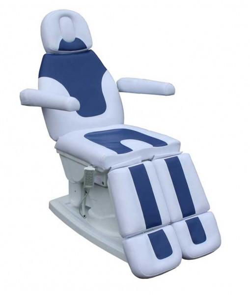 1382 Luxus Fußpflegestuhl 5-Motoren weiß-blau