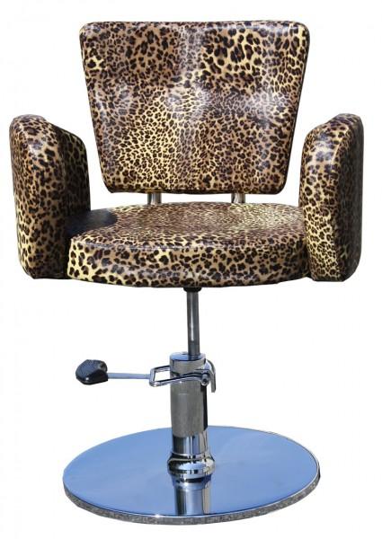 1367 Friseurstuhl CESANO Leopard-natur
