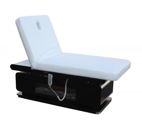 1261 Stationäre Luxus Elektro-Massageliege mit Heizung Unterschrank, Kamineffekt