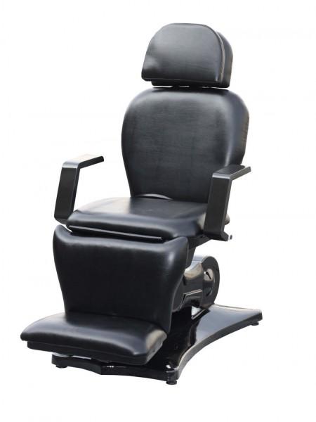 2064 elektische Kosmetik-Fußpflegeliege 4 teilig, Sockel schwarz/ Bezug schwarz