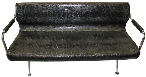 1877 Wartebank FINALE (PVC 703-5 schw-croco)