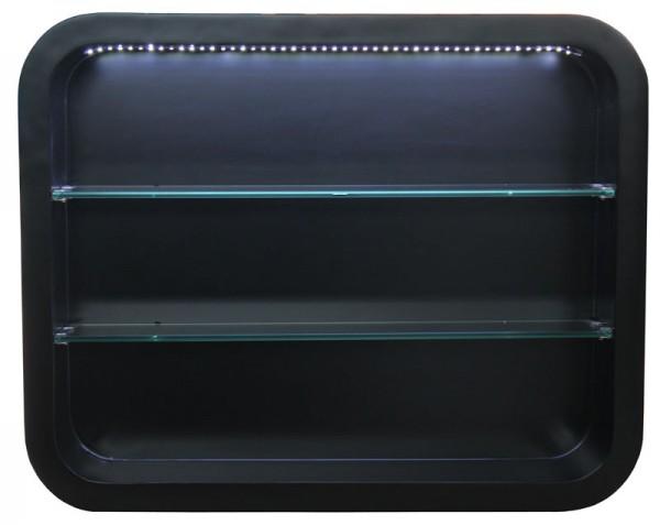 EINZELSTÜCK 2032 Wandvitrine LOCARNO mit LED Schleiflack schwarz C1 0897