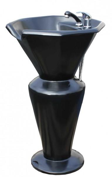 EINZELSTÜCK 1317 Rückwärtswaschsäule Sockel schwarz Becken schwarz B1 1062