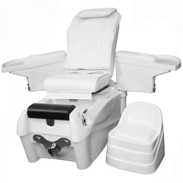 1476 SPA Fu§pflegestuhl mit Massage / Sitz weiss